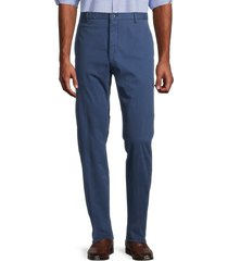 zanella men's noah regular-fit stretch trousers - blue - size 38