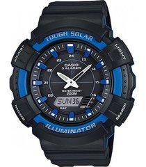 reloj casio para caballero ad-s800wh-2a2 color negro con azul