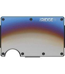 men's the ridge titanium cash strap card case - grey