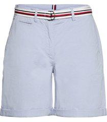 cotton tencel chino rw short shorts chino shorts blå tommy hilfiger