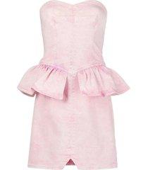 isabel marant light pink denim olizi dress