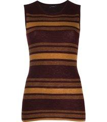 joseph horizontal-stripe knitted top - red