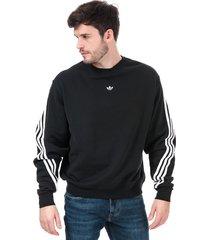 mens 3-stripes wrap crew sweatshirt