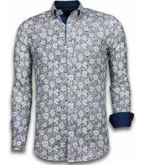 overhemd lange mouw tony backer blouse drawn flower pattern