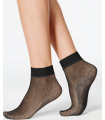 hue women's sporty fishnet ankle socks