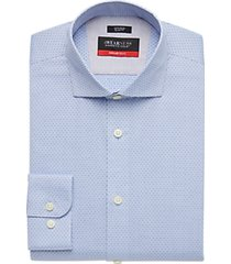 awearness kenneth cole awear-tech blue check slim fit dress shirt