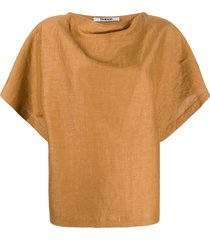 chalayan relaxed fit blouse - brown