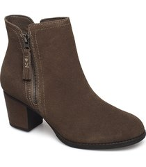 womens taxi - accolade shoes boots ankle boots ankle boot - heel brun skechers