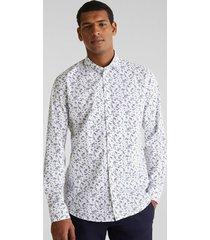 camisa slim con flores coolmax blanco esprit