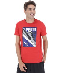 camiseta puma sneaker - masculina - vermelho