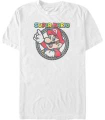 nintendo men's super mario classic tire logo short sleeve t-shirt