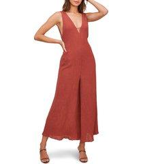 women's astr the label endeavor crop wide leg jumpsuit