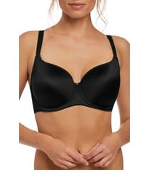women's fantasie aura underwire molded t-shirt bra, size 38d - black