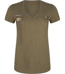 esqualo sp20.30006 t-shirt patches groen