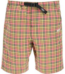 msgm checkered shorts