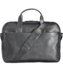 kenneth cole reaction men's slim faux-leather briefcase