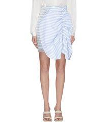 'flippa' bow front stripe sequin mini skirt