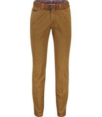 meyer 5-pocket broek bruin met riem