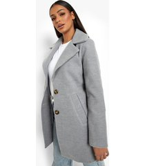 nepwollen jas met enkele knoop, grey