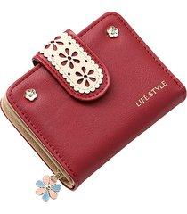 borsa a portafoglio in pelle con rilievo in pelle scamosciata da donna