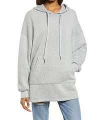 women's treasure & bond tunic hoodie, size x-large - grey