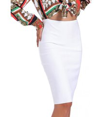 falda midi blanco nicopoly