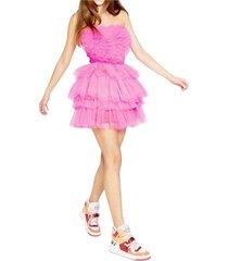 heart dress nina fuchsia