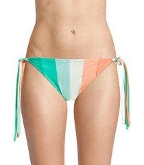 paper london women's triangle bikini bottom - green multi - size l