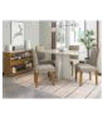 mesa ana 120 cm off white com aparador vanessa ype off white 04 cadeiras amanda ype wd25 new ceval