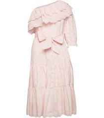 clementine dress knälång klänning rosa by malina