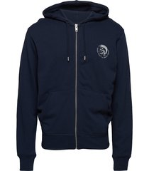 umlt-brandon-z sweat-shirt sweat-shirts & hoodies zip throughs blauw diesel men