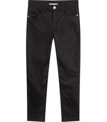 pantalón para mujer 5 bolsillos unicolor color negro, talla 10