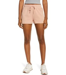 madewell mwl breeze drawstring shorts, size large in antique coral at nordstrom
