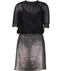 twinset jurk zwart dessin