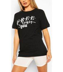 free spirit oversized sweat top, black