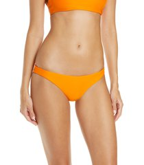 women's jade swim most wanted bikini bottoms, size medium - orange