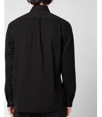 belstaff men's pitch twill shirt - black - xxl