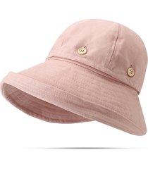 donna cappello estivo pieghevole cloche rotonda regolabile cappello da pescatore a doppio uso