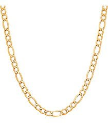 basic chains 14k yellow gold figaro chain necklace