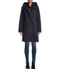 woolrich women's iris 3-in-1 parka & puffer jacket - classic navy - size xs
