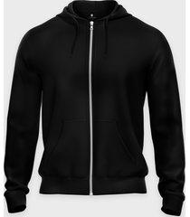 bluza rozpinana (bez nadruku, gładka) - czarna