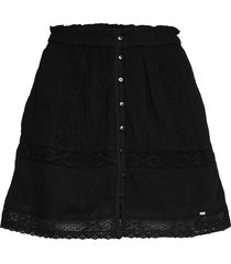 ellison textured lace skirt kort kjol svart superdry