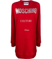 moschino logo jumper dress - red