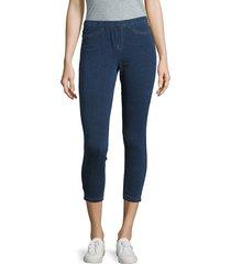 hue women's cropped capri pants - white - size s