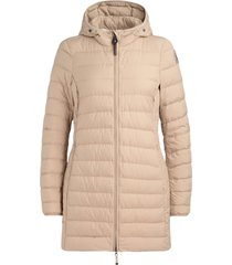 parajumpers irene coat in superlight cappuccino color fabric