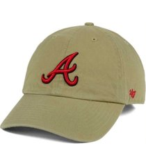 '47 brand atlanta braves khaki clean up cap