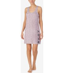dkny women's printed sleeveless nightgown