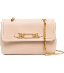 bally viva chain-link strap shoulder bag - pink