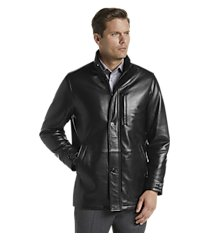 reserve collection traditional fit 3/4 walker length leather jacket clearance