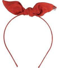 maison michel bow headband - red